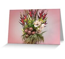 *Beautiful Bouquet at Luncheon* Greeting Card