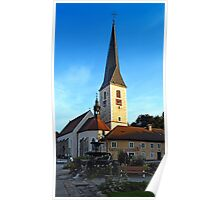 The village church of Zwettl a.d. Rodl 2   architectural photography Poster