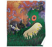 """Larvae in the Grass"" Poster"