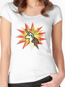 They Fight Crime - Llamacorn and Alpacacorn Women's Fitted Scoop T-Shirt