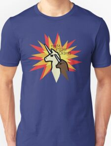 They Fight Crime - Llamacorn and Alpacacorn T-Shirt