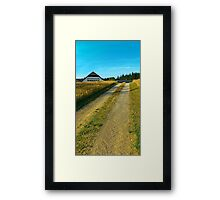 A trail, a farm and summer | landscape photography Framed Print