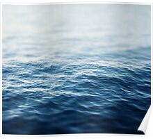 Blue waves photo Poster