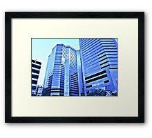 Blue City In Glass  Framed Print