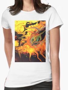 abstract expressionist doubt seed Womens Fitted T-Shirt