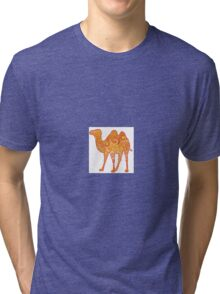 Camel in Warm Colours Tri-blend T-Shirt