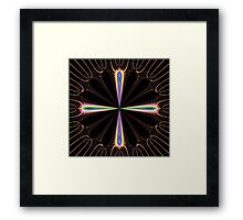 Colourful compass Framed Print