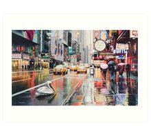 """""""Detour"""" Pelican in New York Watercolor Art Print"""