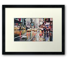 """Detour"" Pelican in New York Watercolor Framed Print"