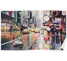 """Detour"" Pelican in New York Watercolor Poster"