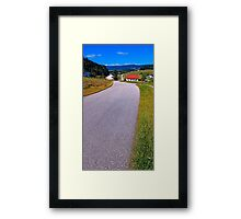 Long and winding valley road | landscape photography Framed Print