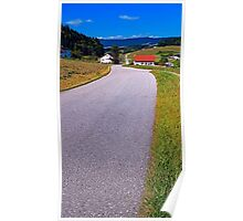 Long and winding valley road | landscape photography Poster