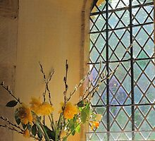 Norman Glass Window, All Saint's Church, Somerset by rumisw