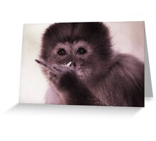 Cranky monkey Greeting Card