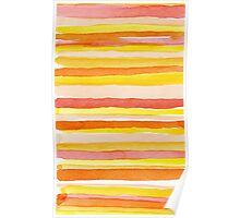 Hot colors abstract lines Poster
