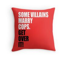 VILLAINS AND COPS Throw Pillow