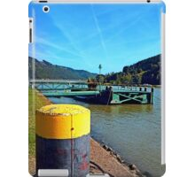 Danube river landing stage | waterscape photography iPad Case/Skin