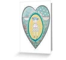 Carlalluna Sara Girl Greeting Card