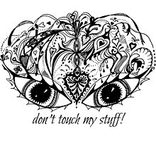 Eyes Mask - Don't Touch My Stuff! Aussie Tangle by Heatherian