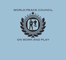 World Peace Council on Work and Play Womens Fitted T-Shirt