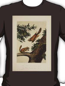 James Audubon - Quadrupeds of North America V3 1851-1854  Seven River Flying Squirrel and Rocky Mountain Flying Squirrel T-Shirt