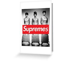 Supreme - The Supremes Greeting Card