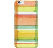 Red and green watercolor  lines iPhone Case/Skin
