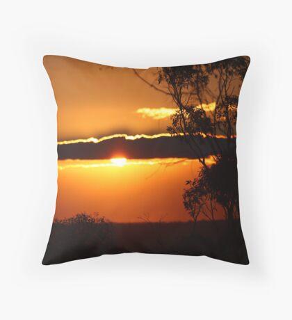 Australian Gum sunset Throw Pillow