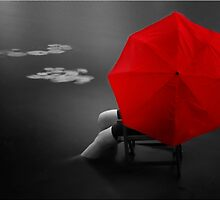 Red Umbrella by Kym Howard