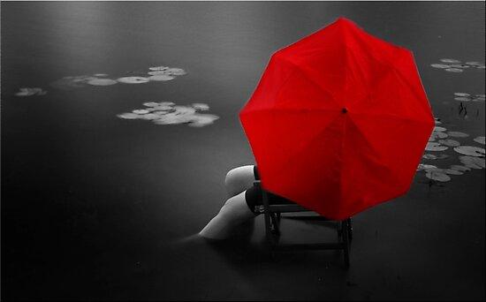 Red Umbrella by Kym Howard