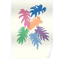 Colourful Matisse Leaves Poster