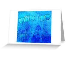 Blue Flowers II Greeting Card