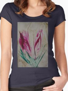 Spring Tulips Women's Fitted Scoop T-Shirt