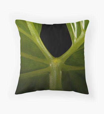 Leafy Veins Throw Pillow