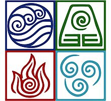 Four Elements Symbol Avatar Photographic Print