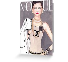 Vogue Paris March 2009 Cover Greeting Card