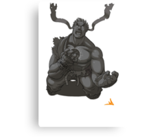 Evil Ryu Greyscale Canvas Print