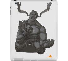 Evil Ryu Greyscale iPad Case/Skin