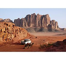 Wadi Rum Jordan at Sunrise Photographic Print