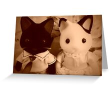Sylvanian Families ~ Cat Couple Vintage Greeting Card