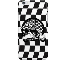 Black and white check fifties scooter couple iPhone Case/Skin