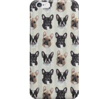 "French Bulldog - Vintage French Postal design by ""The Sketchy World of Louise Jarvis""  iPhone Case/Skin"
