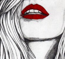 Girl with the Red Lips Sticker
