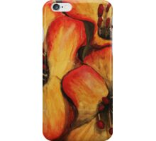 Orange and red flowers iPhone Case/Skin
