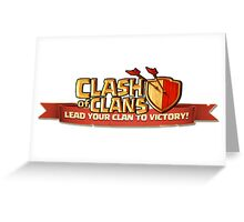 Clash of Clans Logo Art Greeting Card