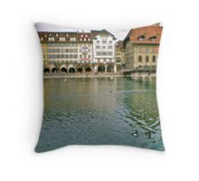 Luzern Lake Throw Pillow