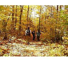 Hiking in a Golden Moment Photographic Print