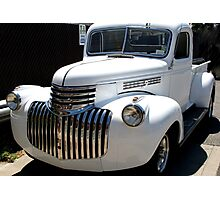 1946 old chevy truck -front full Photographic Print