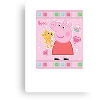 Peppa and her Ted Canvas Print