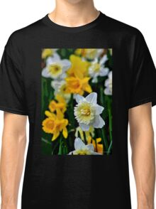 White and Yellow Daffodils in the Abstract Classic T-Shirt